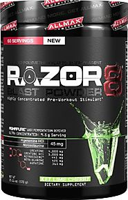 Allmax Nutrition NEW 2014 Razor8 Pre-workout (DMAA FREE) 60 Servings (Key Lime Cherry) 20.11oz