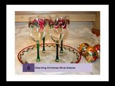Charming Christmas Wine Glasses