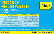 Idea Mobile Online Recharge | Idea Online Prepaid Offers