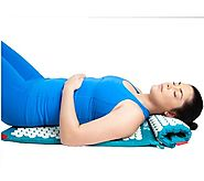 Spoonk Cotton Combo - Acupressure Massage Mat Eco Foam + Spoonk Travel Size Mat and Pillow - Oprah Magazine O List Ja...
