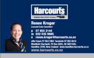 "Renee Kruger - Harcourts - Hamiltons North/East ""Best Agents"" representative"