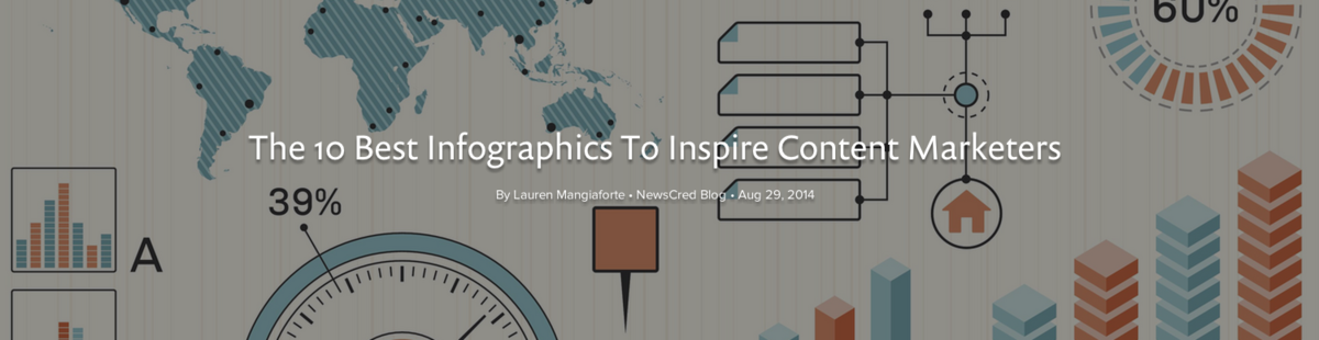 Headline for The 10 Best Infographics To Inspire Content Marketers via @newscred