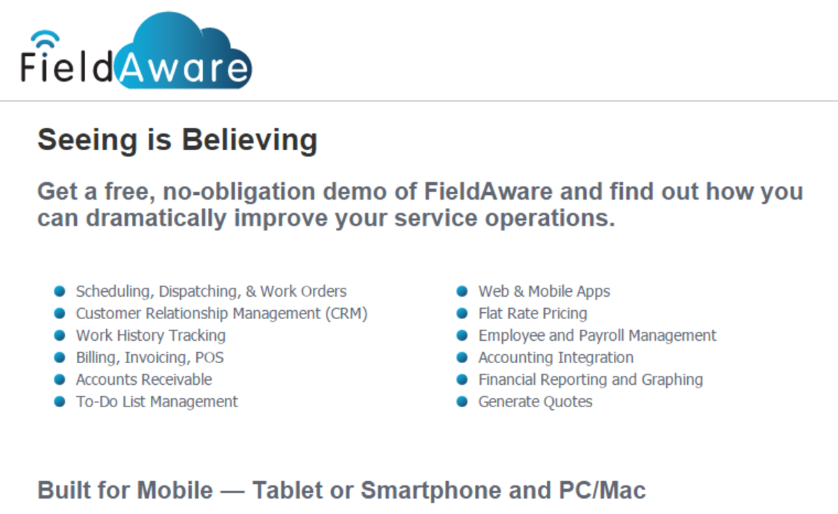 Headline for Your top tips for using @fieldaware #Crowdify #GetItDone