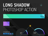 Free Long Shadow Photoshop Action – Flat Style