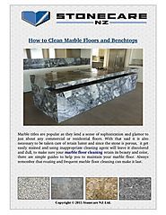 Easy Tips to Clean Marble Floors and Benchtops