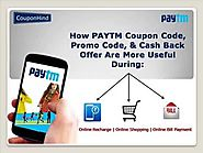 Where to find paytm discount coupon code & offers for more saving