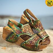 Slingback Wedge Sandals CW305231 - cwmalls.com