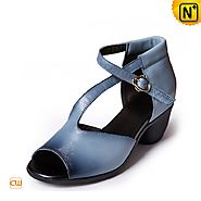 Leather Peep toe Sandals CW305233 - cwmalls.com