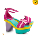 Leather Platform Sandals Women CW260612 - cwmalls.com