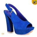 Fashion Blue Wedges Heels CW263104 - cwmalls.com