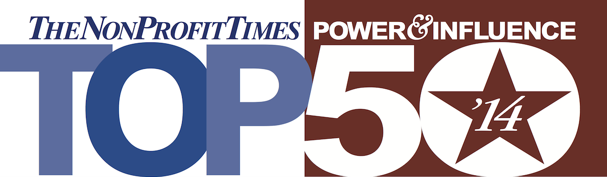 Headline for @NonProfitTimes Power & Influence 50 #Nonprofit Leaders on @Twitter