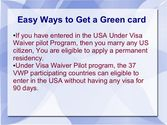 Easy Ways to get a Green Card