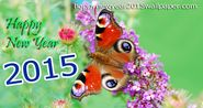 Happy New Year 2015 butterfly wallpaper