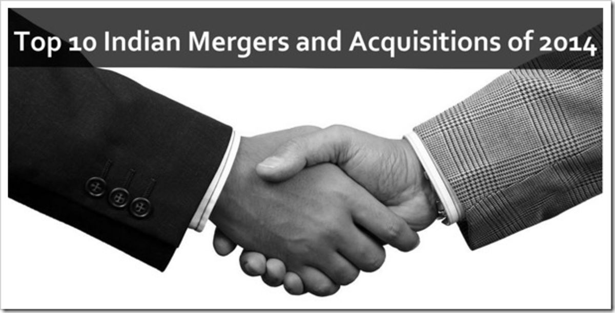 Headline for List of some of the most happening mergers and acquisitions in India in the year 2014