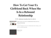 How To Get Your Ex Girlfriend Back When She Is In a Rebound Relationship