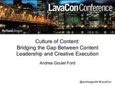 Culture of Content: Bridging the Gap Between Content Leadership and Creative Execution