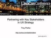 Partnering with Key Stakeholders in UX Strategy
