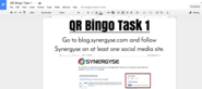 Synergyse Blog: QR Code BINGO in 3 Easy Steps!