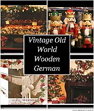 Vintage Old World Wooden German Christmas Tree Ornaments