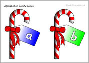 Alphabet on candy canes (SB3544) - SparkleBox