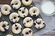 Blueberry doughnuts !!!