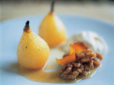 Baked Pears & Walnut Cream