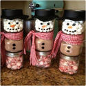 Hot Cocoa Snowman Jars!