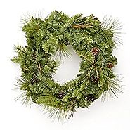 "Evergreen and Pinecone 24"" Decorative Christmas Wreath"