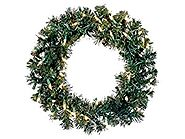 "Allstate 18"" Pre-Lit Deluxe Windsor Pine Artificial Christmas Wreath - Clear Lights"