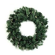 Vickerman Pre-Lit Natural Frasier Fir Artificial Christmas Wreath with Clear Dura Lights, 36""