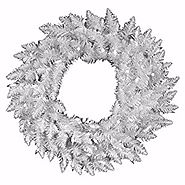 "Vickerman 60"" Pre-Lit Sparkle White Spruce Artificial Christmas Wreath - Clear Lights"