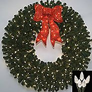 5 Foot L.E.D. Prelit Christmas Wreath