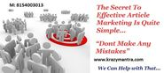 Article Marketing, the Most Useful Tool for #SEOPromotionServices