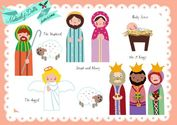 FREE Paper Doll Printables - The Nativity, Santa's Helpers and more! - Design Dazzle
