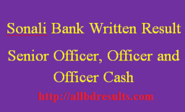 Sonali Bank Written Result-Senior Officer, Officer and Officer Cash
