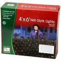 Holiday Wonderland 48951-88 150-Count Multi Color Christmas Lights Net Mesh Light Set / Tree Wrap 4 x 6 Feet