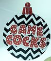 NCAA South Carolina Gamecocks Chevron Saying Christmas Ornament