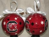 NCAA South Carolina Gamecocks Snowflake Ball Christmas Ornament