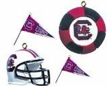 NCAA South Carolina Fighting Gamecocks Four-Pack Sports Ornaments