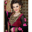 Black Gown Wedding Anarkali Georgette Embroidery Salwar Kameez