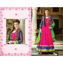 Pink Gown Wedding Anarkali Georgette Embroidery Salwar Kameez