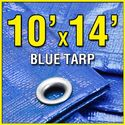 Grizzly Tarps GTRP1014 10' X 14' Blue Multi-Purpose 6-mil Waterproof Poly Tarp Cover