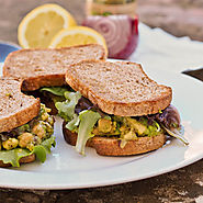 Avocado and Chickpea Salad Sandwiches