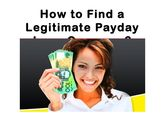 How to find a legitimate payday loan company?
