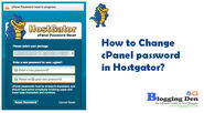 Simple tips to Change cPanel password in Hostgator?