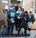 The Eagles joined Habitat for Humanity to welcome a family into their new home