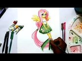 How to draw my little pony equestria girls Flutter shy