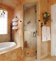 A Tuscan bathroom
