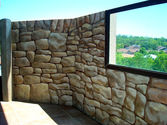Painting Faux Stone Wall