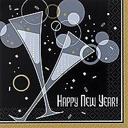 Bubbly New Year Napkins